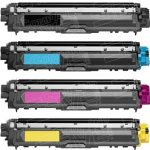 Brother Compatible TN221 / TN225 Bulk Set of 4 High Yield Color Laser Toner Cartridge