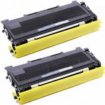 Compatible Brother TN350 (TN-350) Bulk Set of 2 Black Toner Cartridges