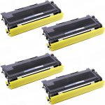 Compatible Brother TN350 (TN-350) Bulk Set of 4 Black Toner Cartridges