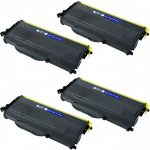 New Compatible Brother TN-360 (TN360) Combo-Pack of 4 High Yield Black Toner Cartridge
