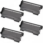 New Compatible High Yield Black Laser Toner Cartridge for Brother TN450 (Bulk Set of 4-Pack)