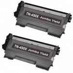 Compatible Brother TN450X Jumbo Yield Black Toner Cartridge (Set of 2-Pack)