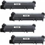 Compatible Brother TN660 (4-Pack) High Yield Black Laser cartridge Unit (TN-660)