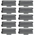 Compatible Brother Black TN750 High Yield Laser Toner Cartridge (Bulk Set of 10-Pack)