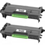 Compatible Brother TN820 (Combo Pack of 2) Black Laser cartridge Unit (TN-820)