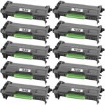 Compatible Brother TN850 (Combo Pack of 10) High Yield Black Laser cartridge Unit (TN-850)