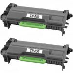 Compatible Brother TN850 (Combo Pack of 2) High Yield Black Laser cartridge Unit (TN-850)