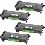 Compatible Brother TN850 (Combo Pack of 4) High Yield Black Laser cartridge Unit (TN-850)
