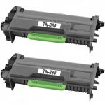 Compatible Brother TN880 (Combo Pack of 2) Super High Yield Black Laser cartridge Unit (TN-880)