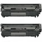 Replacement for Canon 104 / FX9 / FX10 (2-Pack) Black Toner Cartridge (0263B001A)