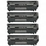 Replacement for Canon 104 / FX9 / FX10 (4-Pack)) Black Laser Toner Cartridge (0263B001A)