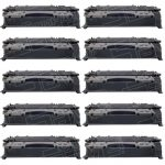 Replacement for Canon 119 II (Bulk Set of 10-Pack) High Yield Black Laser Toner Cartridge (3480B001AA)