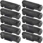 Replacement for Canon 125 (Bulk Set of 10-Pack) Black Laser Toner Cartridge (3484B001AA)