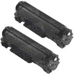 Replacement for Canon 125 (Bulk Set of 2-Pack) Black Laser Toner Cartridge (3484B001AA)