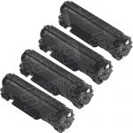 Replacement for Canon 125 (Bulk Set of 4-Pack) Black Laser Toner Cartridge (3484B001AA)
