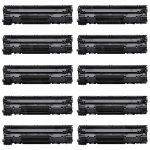 Replacement for Canon 126 (Bulk Set of 10-Pack) Black Laser Toner Cartridge (4514B002AA)