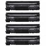 Replacement for Canon 126 (Bulk Set of 4-Pack) Black Laser Toner Cartridge (4514B002AA)