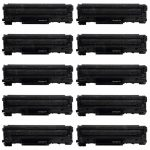 Replacement for Canon 128 (Bulk Set of 10-Pack) Black Laser Toner Cartridge (3500B001AA)