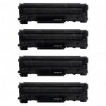 Replacement for Canon 128 (Bulk Set of 4-Pack) Black Laser Toner Cartridge (3500B001AA)