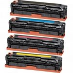 Replacement for Canon 131 (Set of 4) Toner Cartridge: 1 each Black (6272B001AA), Cyan (6271B001AA), Magenta (6270B001AA) & Yellow (6269B001AA)