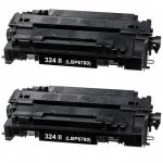 Replacement for Canon 324 II (Set of 2-Pack) High Yield Black Laser Toner Cartridge (3482B013AA)