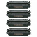 Replacement for Canon X25 X-25 (Combo Pack of 4) Black Toner Ca rtridge (8489A001AA)