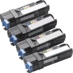 New Compatible Dell 1320 (Combo Pack of 4) High Yield Toner Cartridge for Dell 1320c Color Laser Printer