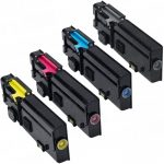 Replacement Toner to replace Dell C2660dn / C2665dnf (2660/2665) Bulk Set of 4 High Yield Color Laser Toner Cartridges