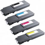 Replacement Toner for Dell C3760 / C3765 (3760/3765) Extra High Yield (Set of 4) Toner Cartridge