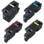 Replacement Toner Cartridge for Dell E525W Printer (Bulk Set of 4):  1 Black, 1 Cyan, 1 Magenta, 1 Yellow