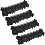 Replacement for Dell 593-BBKD (P7RMX) High Yield Toner Cartridge to use in Dell E310/514dw/515dw Printers (Bulk Set of 4)