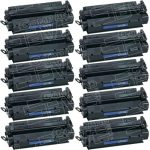 Replacement (Combo Pack of 10) High Yield Black Laser Toner Cartridge for Hewlett Packard (HP) C7115X (15X)