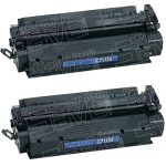 Replacement (Combo Pack of 2) High Yield Black Laser Toner Cartridge for Hewlett Packard (HP) C7115X (15X)