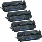 Replacement (Combo Pack of 4) High Yield Black Laser Toner Cartridge for Hewlett Packard (HP) C7115X (15X)