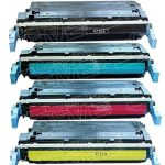 Replacement (Combo Pack of 4) Laser Toner Cartridge for Hewlett Packard (HP) C9720A Black, C9721A Cyan, C9723A Magenta & C9722A Yellow