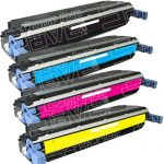Replacement Color Laser Toner Cartridge for Hewlett Packard (HP) C9730A Black, C9731A Cyan, C9733A Magenta, C9732A Yellow (Combo Pack of 4)