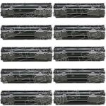 Replacement for HP CB435A (35A) 10-Pack Black Laser Toner Cartridge for Hewlett Packard (HP) P1005 & P1006