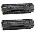 Replacement CB436A (36A) 2-Pack Black Laser Toner Cartridge for Hewlett Packard (HP) LaserJet M1522 & P1505