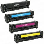 Replacement for HP CC530A CC531A CC533A CC532A (Combo Pack of 4) 1 Set Laser Toner Cartridge for Hewlett Packard (HP 304A) CM2320/CP2025