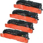 Replacement Bulk Set of 4 Pack (CE260A CE261A CE263A CE262A) Laser Toner Cartridge for Hewlett Packard (HP) CP4025/CP4525