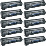 Replacement Black Laser Toner Cartridge for Hewlett Packard (HP) CE285A – (85A) Bulk Set of 10 Packs for the P1102w/M1212nf Printers