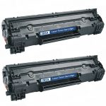Replacement Black Laser Toner Cartridge for Hewlett Packard (HP) CE285A – (85A) Bulk Set of 2 Packs for the P1102w/M1212nf Printers