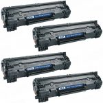 Replacement Black Laser Toner Cartridge for Hewlett Packard (HP) CE285A – (85A) Bulk Set of 4 Packs for the P1102w/M1212nf Printers