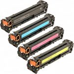 Replacement Laser Toner Cartridge for HP 128A (Combo-Pack of 4):  1 each of Black (CE320A), Cyan (CE321A), Magenta (CE323A), Yellow (CE322A)