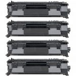 Replacement (Combo Pack of 4) Black Laser Toner Cartridge for Hewlett Packard (HP) CE505A – (05A) for the P2035/P2055 Printers
