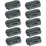 Replacement High Yield Combo Pack of 10 Black Laser Toner Cartridge for Hewlett Packard (HP) CE505X – (05X) for the P2055 Printers