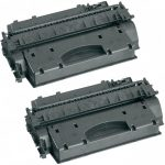 Replacement High Yield Combo Pack of 2 Black Laser Toner Cartridge for Hewlett Packard (HP) CE505X – (05X) for the P2055 Printers