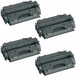 Replacement High Yield Combo Pack of 4 Black Laser Toner Cartridge for Hewlett Packard (HP) CE505X – (05X) for the P2055 Printers