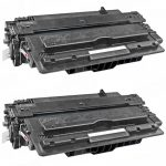 Replacement Black CF214X (HP 14X) High Yield Laser Toner Cartridge for Hewlett Packard Printers (Bulk Set of 2-Pack)