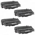 Replacement Black CF214X (HP 14X) High Yield Laser Toner Cartridge for Hewlett Packard Printers (Bulk Set of 4-Pack)